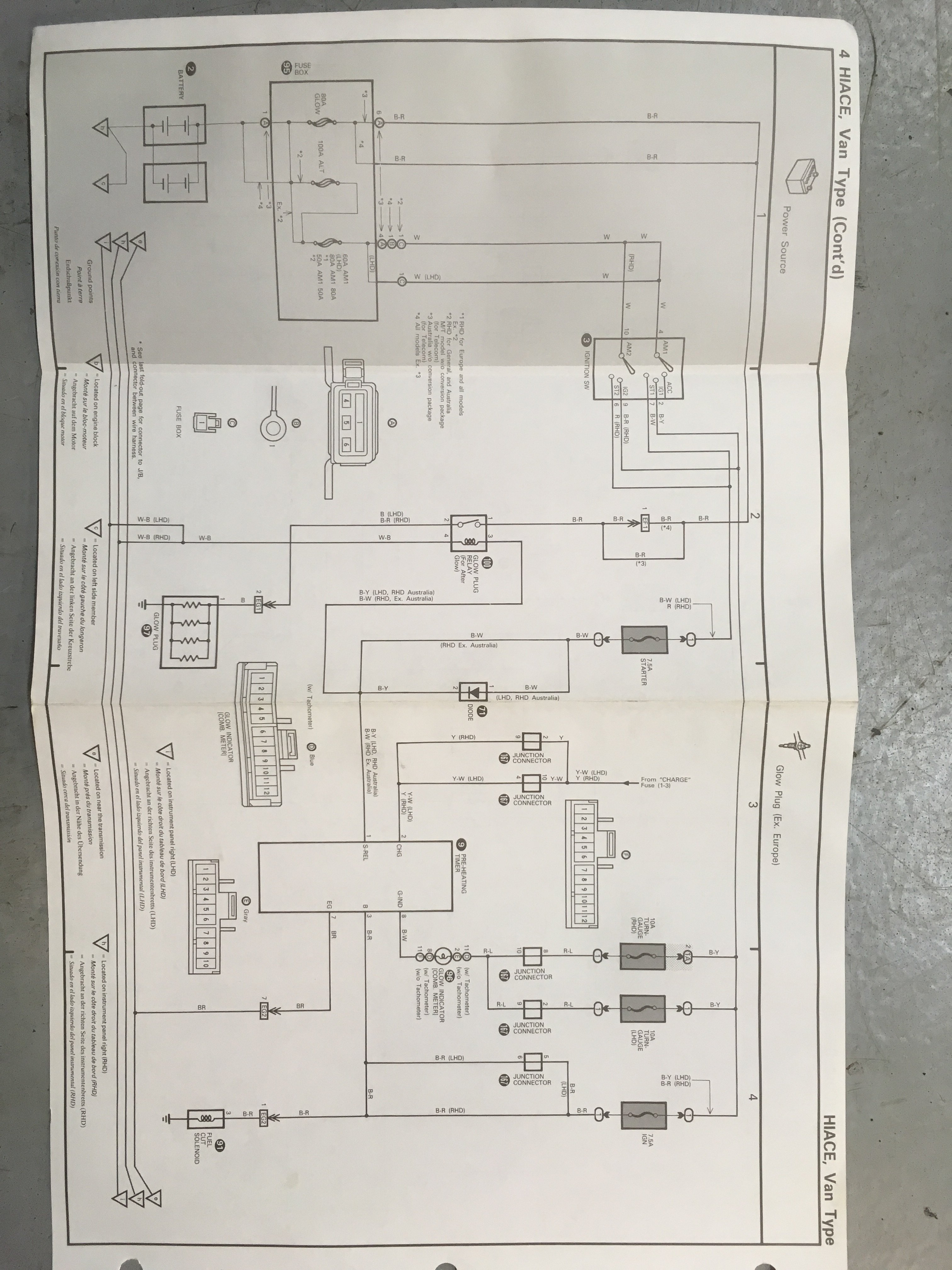 1987 Toyota Hiace Superglow Glow Plug Questions Tech Talk Oldschool Co Nz